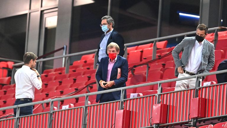 Sir Kenny Dalglish watches from the stands as the Reds beat Crystal Palace