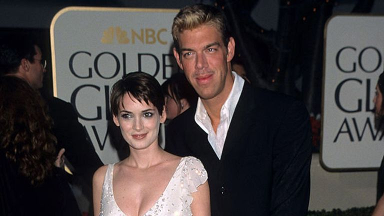 Winona Ryder (L) said Mel Gibson made a homophobic remark about her friend, makeup artist Kevyn Aucoin (R)