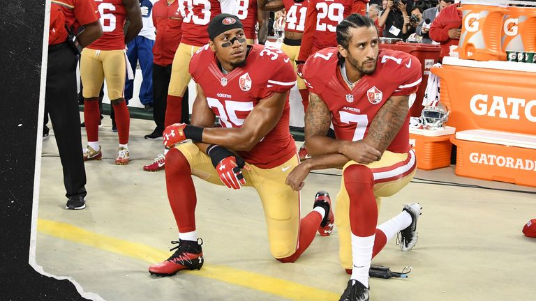 NFL player Colin Kaepernick started the take the knee protests.