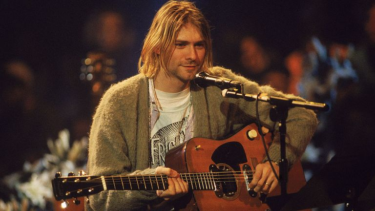 Cobain played the guitar five months before he died
