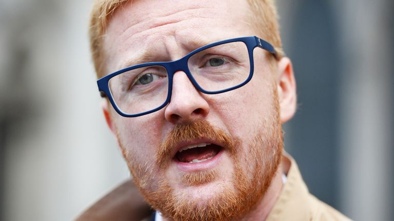 Labour MP LLoyd Russell-Moyle outside the Royal Courts of Justice, London, where protesters are celebrating after winning a landmark legal challenge at the Court of Appeal over the Government's decision to continue to allow arms sales to Saudi Arabia. PRESS ASSOCIATION Photo. Picture date: Thursday June 20, 2019. Campaign Against Arms Trade (CAAT) went to the Court of Appeal over the Government's decision to continue sales of military equipment to the Gulf state. See PA story COURTS Arms. Photo credit should read: Kirsty O'Connor/PA Wire