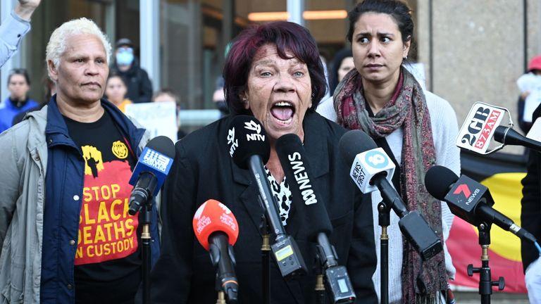 Aboriginal elder Latona Dungay told reporters she would  still protest in Sydney