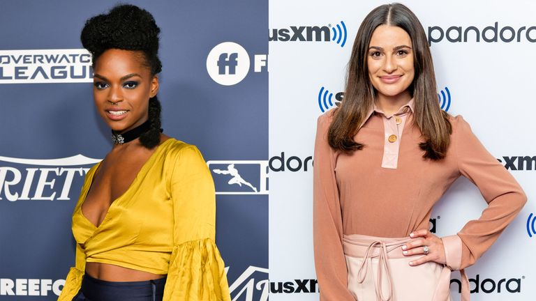 Samantha Ware (L), has accused Lea Michele of making her experience on Glee a 'living hell'