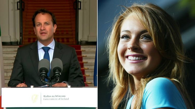 Leo Varadkar held up his end of the bet by quoting a line from Mean Girls
