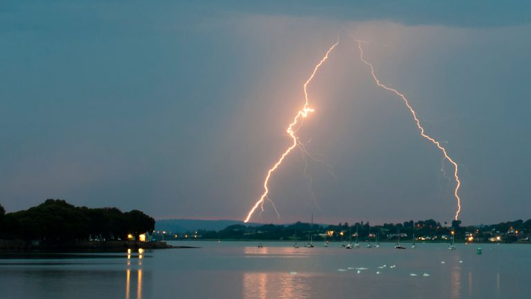 Thunder and lightning is forecast for Friday