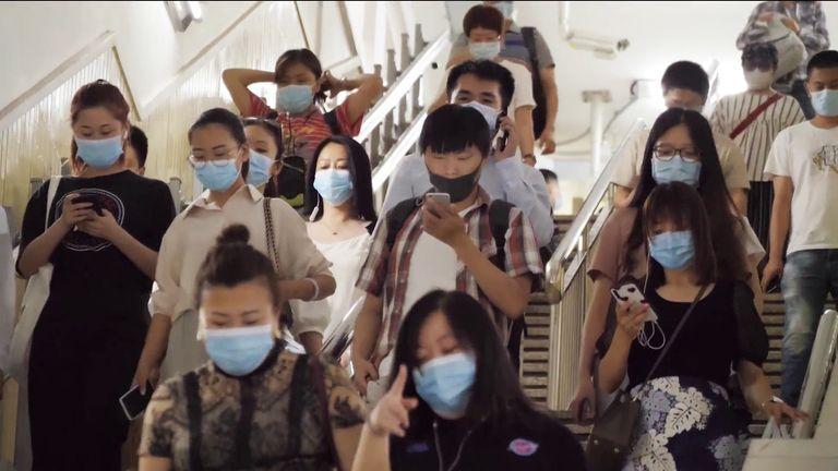 Widespread COVID precautions on the Beijing subway