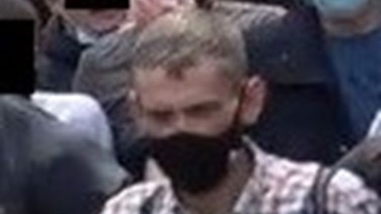 One of the people wanted by police in connection with violence at protests in London