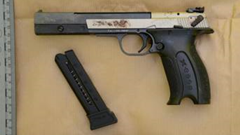 The gun used to murder journalist Lyra McKee