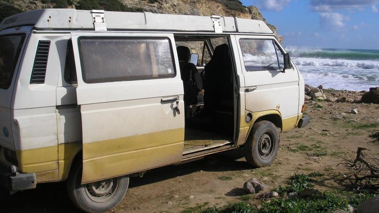 A Volkswagen camper van linked to the suspect