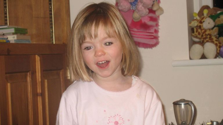 Undated McCann family handout of missing three-year-old Madeleine McCann.