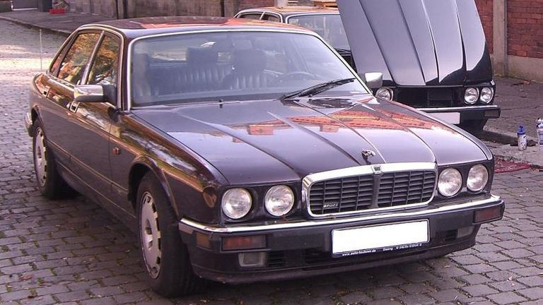 A Jaguar car linked to a German suspect being investigated over Madeleine McCann's disappearance. Pic: Met Police