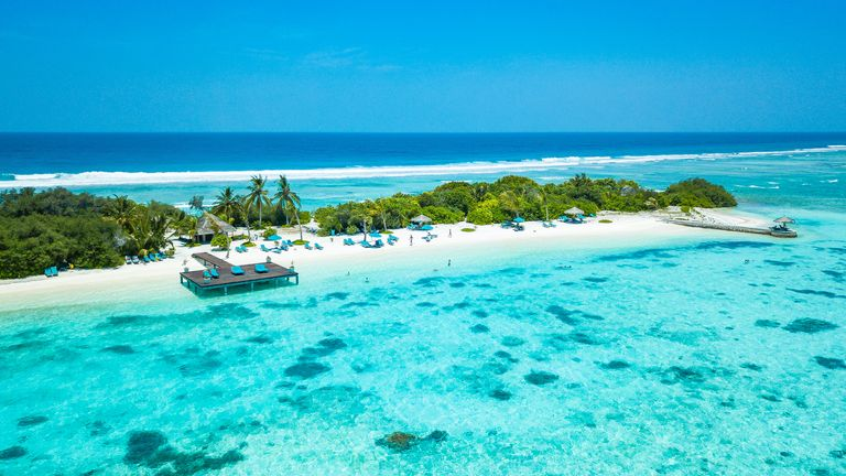The Maldives are famed for its white sandy beaches