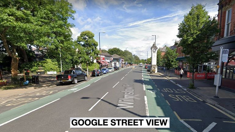 Wilmslow Road in Manchester. Pic: Google Street View