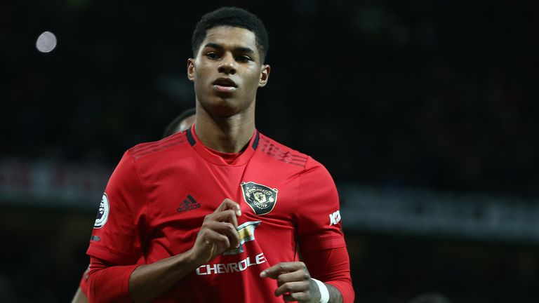 England and Manchester United striker Marcus Rashford