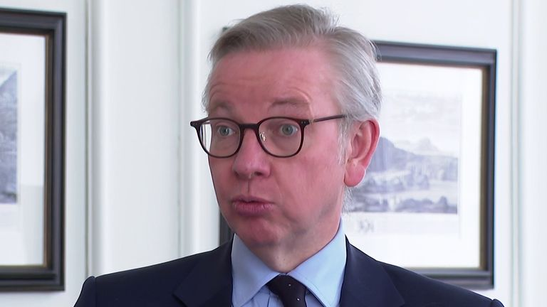 Michael Gove not interested in extending transition period