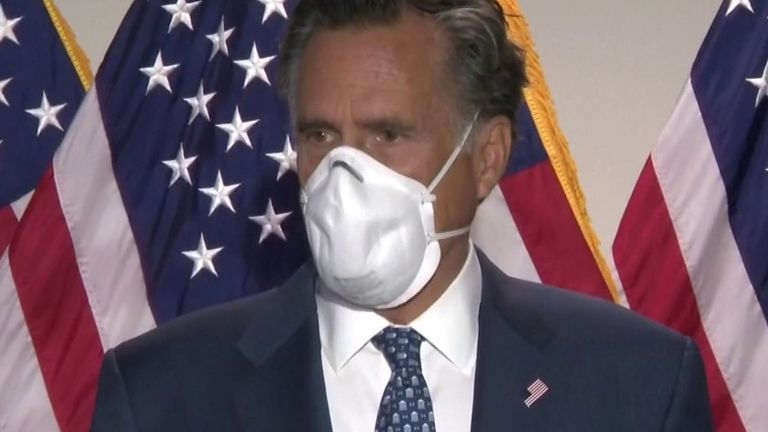 Mitt Romney calls a Donald Trump tweet 'shocking'