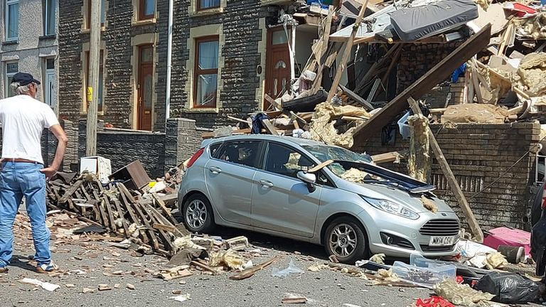 Two children among injured in house explosion in South Wales