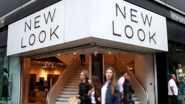 A branch of New Look on Oxford Street, central London