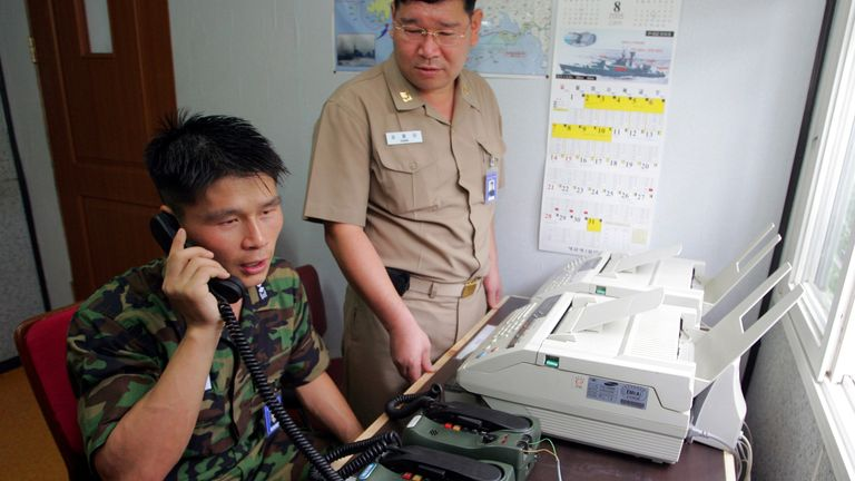 The lines allow the countries to maintain vital military communications. File pic