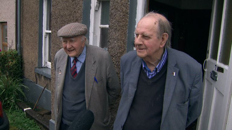 Octogenarian brothers Michael and Finbar O'Riordan