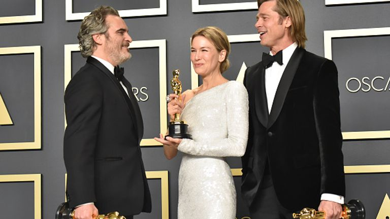 Joaquin Phoenix, Renee Zellweger and Brad Pitt were among the big winners at the last Oscars