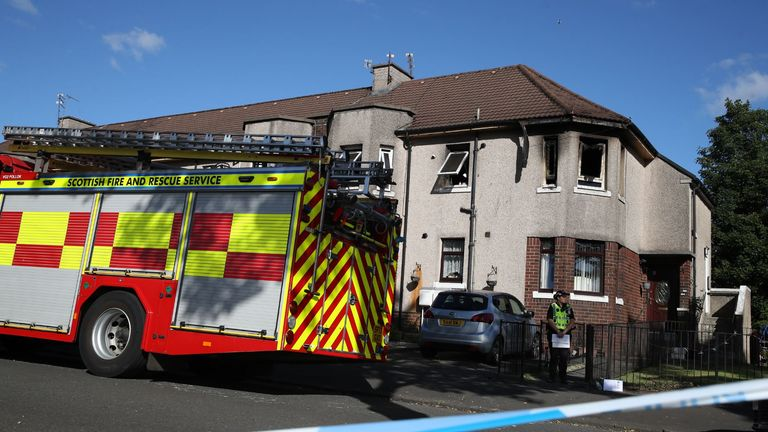 Three young children die after fire at a flat in Paisley, Scotland