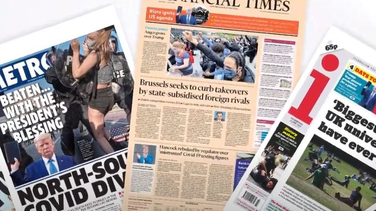 Front pages on Wednesday, 3 June