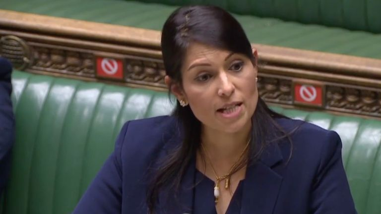 priti patel in the commons