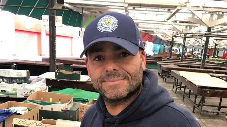 Paul Abbott says Leicester market stallholders are 'feeling a little bit nervous because we don't know how this is going to affect us'