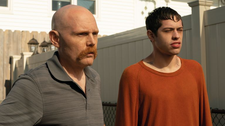 (from left) Ray Bishop (Bill Burr) and Scott Carlin (Pete Davidson) in The King of Staten Island, directed by Judd Apatow. Pic: Universal/The King Of Staten Island