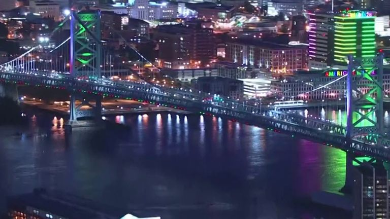 Philadelphia lights up to mark anniversary of abolition of slavery