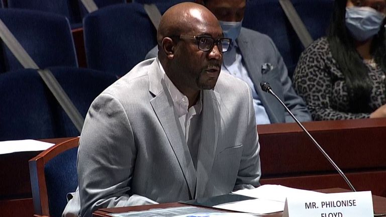 George Floyd's brother Philonise speaks at hearing on police brutality