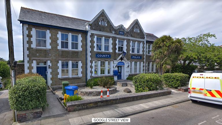 Police HQ in helston, cornwall