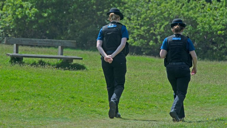 Police officers in Tunbridge Wells. Pic: Grant Falvey/LNP/Shutterstock