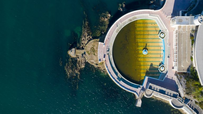 Pools such as the  Tinside Lido at Plymouth Harbour will remain closed
