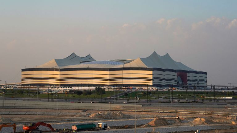 The Al Bayt Stadium is being built for the World Cup in Doha