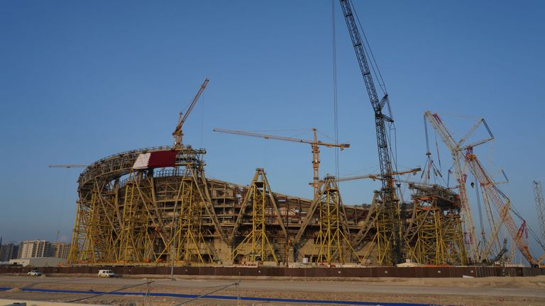 The Lusail Stadium is another venue under construction for the World Cup in 2022