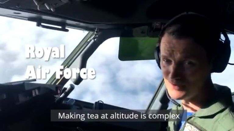 This RAF pilot enjoyed his cuppa in the air