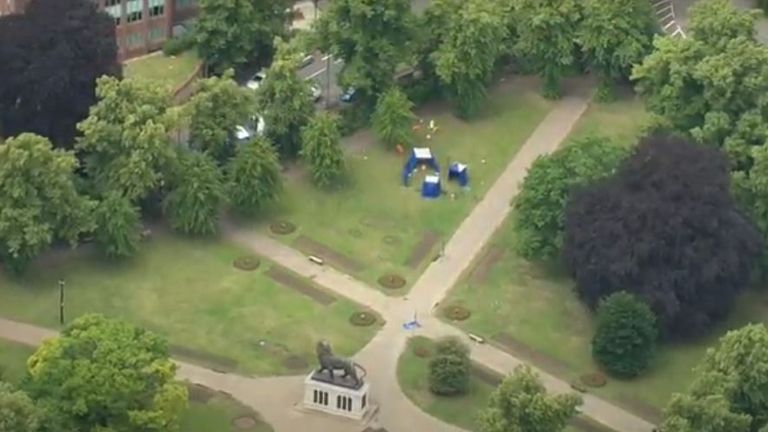 Three people died in the attack in Forbury Park, in central Reading