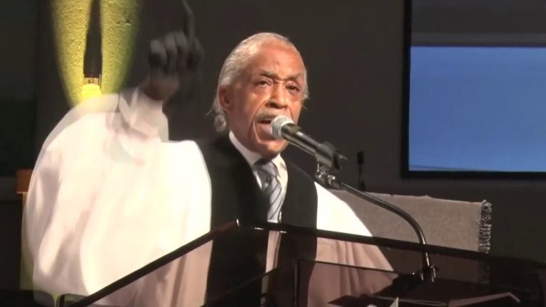 Rev Al Sharpton hits out at Donald Trump at George Floyd's funeral
