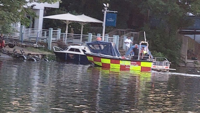 Emergency services have rushed to the River Thames in Berkshire amid reports a man is missing after going into the water