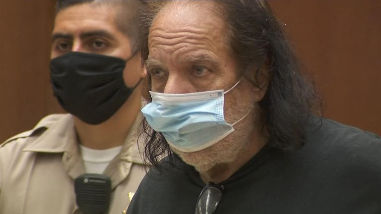 Ron Jeremy in court in Los Angeles on Tuesday