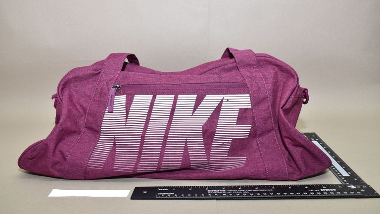 Shaikh also wanted this Nike bag to be filled with bombs