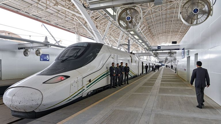 The bullet train between Medina and Mecca in Saudi Arabia was built by a Spanish consortium