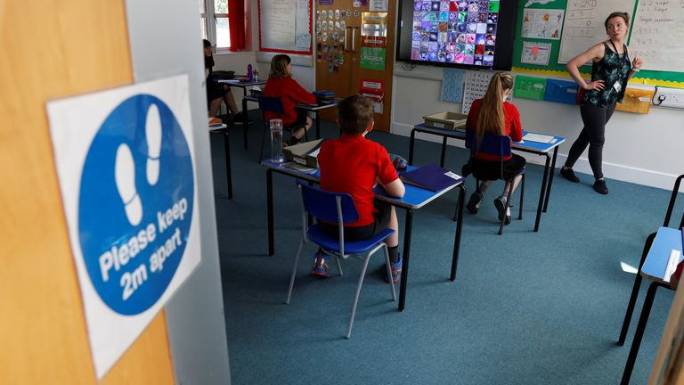 Children have been back at school for the first time in more than a month