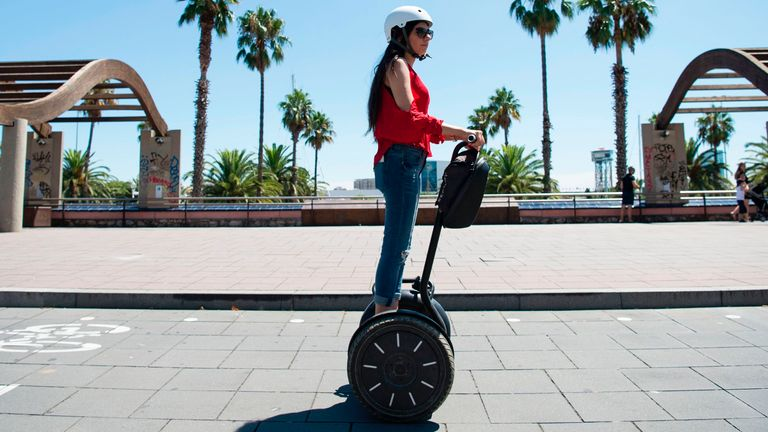 The Segway PT was especially popular with tourists and police officers