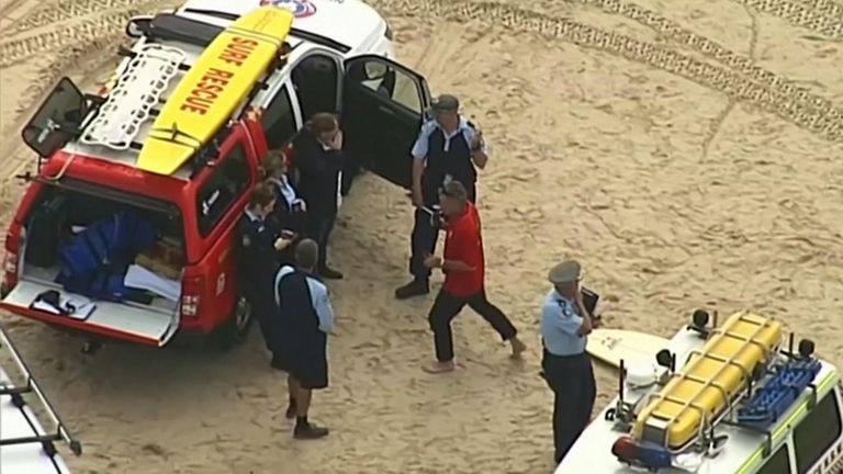 Shark attack in Australia