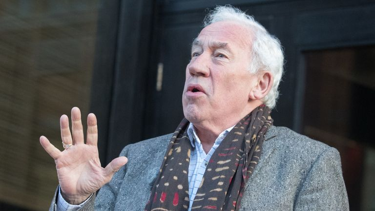 Simon Callow described the performing arts sector as being on its 'deathbed'