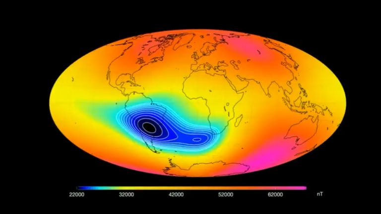 The South Atlantic Anomaly is growing, according to ESA