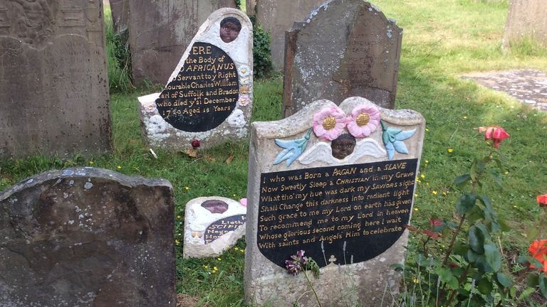 Two headstones in memory of Scipio Africanus were smashed. Pic: David Lloyd